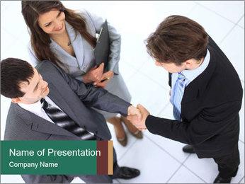 Business handshake PowerPoint Template - Slide 1