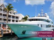 Luxury Yacht Docked PowerPoint Templates