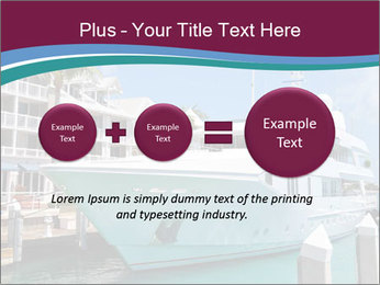 Luxury Yacht Docked PowerPoint Template - Slide 75