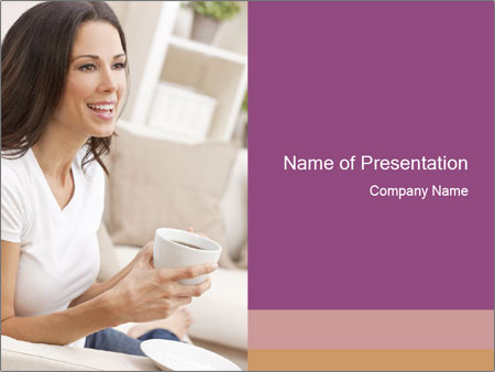 A beautiful brunette PowerPoint Template