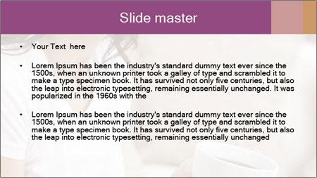 A beautiful brunette PowerPoint Template - Slide 2