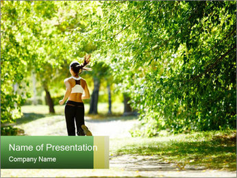 Park along trees PowerPoint Template - Slide 1