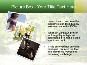 Park along trees PowerPoint Template - Slide 17