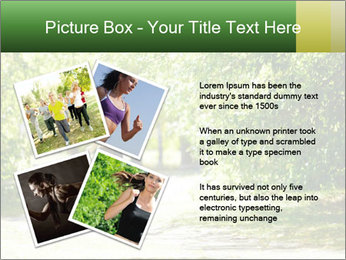 Park along trees PowerPoint Template - Slide 23