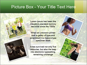 Park along trees PowerPoint Template - Slide 24