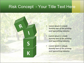 Park along trees PowerPoint Template - Slide 81