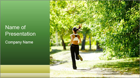 Park along trees PowerPoint Template