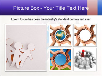 Circle of colorful people PowerPoint Template - Slide 19