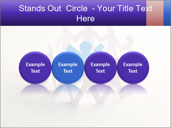 Circle of colorful people PowerPoint Template - Slide 76