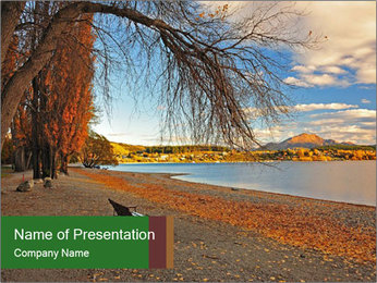 Autumn color PowerPoint Template - Slide 1