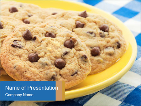 Chocolate chip cookies PowerPoint Template