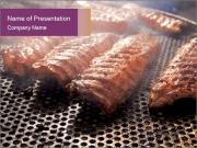 BBQ ribs PowerPoint Templates