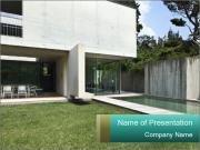 Modern house outdoors PowerPoint Template
