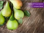 Freshly harvested pears PowerPoint Templates