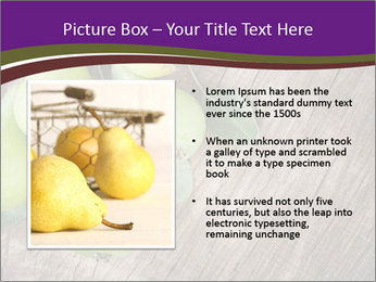 Freshly harvested pears PowerPoint Template - Slide 13