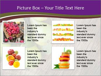 Freshly harvested pears PowerPoint Template - Slide 14