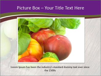 Freshly harvested pears PowerPoint Template - Slide 15