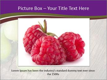 Freshly harvested pears PowerPoint Template - Slide 16