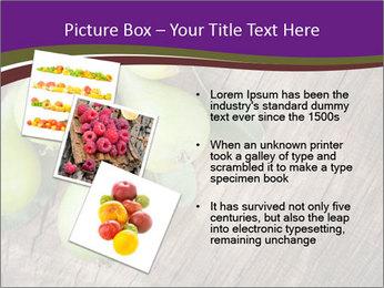 Freshly harvested pears PowerPoint Template - Slide 17