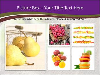 Freshly harvested pears PowerPoint Template - Slide 19