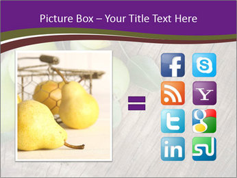 Freshly harvested pears PowerPoint Template - Slide 21