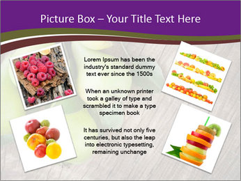 Freshly harvested pears PowerPoint Template - Slide 24