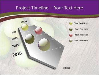 Freshly harvested pears PowerPoint Template - Slide 26