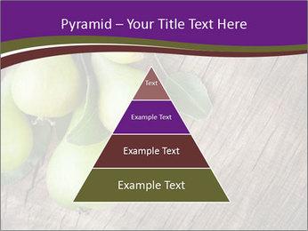 Freshly harvested pears PowerPoint Template - Slide 30