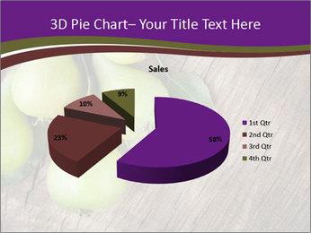 Freshly harvested pears PowerPoint Template - Slide 35