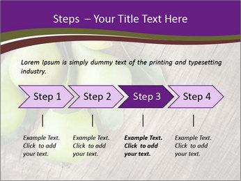 Freshly harvested pears PowerPoint Template - Slide 4