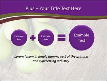 Freshly harvested pears PowerPoint Template - Slide 75