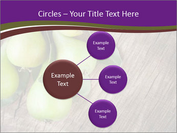 Freshly harvested pears PowerPoint Template - Slide 79