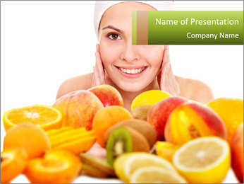 Natural homemade fruit PowerPoint Templates - Slide 1