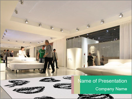 People visit interiors design PowerPoint Template