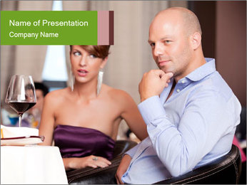 Man thinking PowerPoint Template - Slide 1