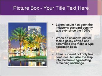 Buckingham Fountain at night PowerPoint Template - Slide 13