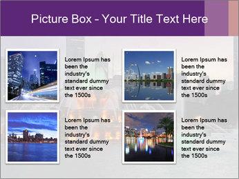 Buckingham Fountain at night PowerPoint Template - Slide 14