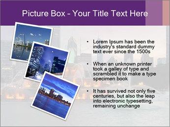 Buckingham Fountain at night PowerPoint Template - Slide 17