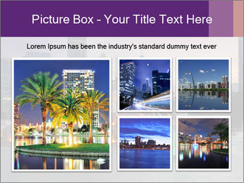 Buckingham Fountain at night PowerPoint Template - Slide 19