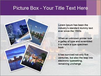 Buckingham Fountain at night PowerPoint Template - Slide 23