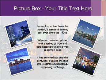 Buckingham Fountain at night PowerPoint Template - Slide 24