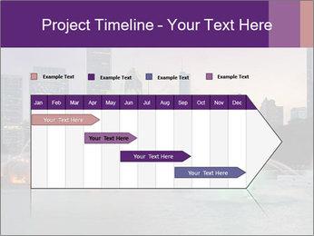 Buckingham Fountain at night PowerPoint Template - Slide 25