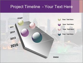 Buckingham Fountain at night PowerPoint Template - Slide 26