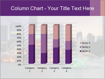 Buckingham Fountain at night PowerPoint Template - Slide 50