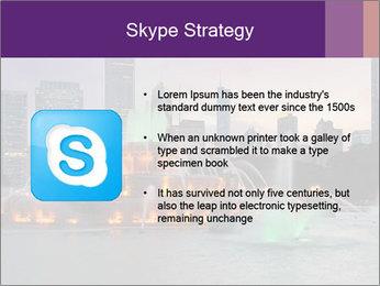 Buckingham Fountain at night PowerPoint Template - Slide 8