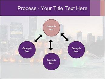 Buckingham Fountain at night PowerPoint Template - Slide 91