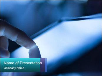 Closeup of finger PowerPoint Templates - Slide 1