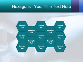 Closeup of finger PowerPoint Templates - Slide 44