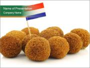 A real traditional Dutch snack PowerPoint Templates