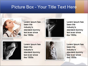 Woman with fingers in ears PowerPoint Template - Slide 14